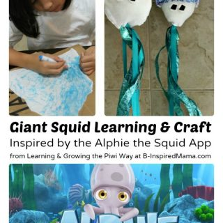 Giant Squid Learning and Craft Inspired by a Fun Learning App at B-Inspired Mama