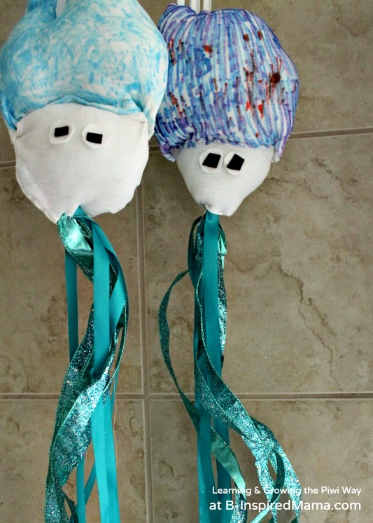 Giant Squid Toy Craft and Learning at B-Inspired Mama