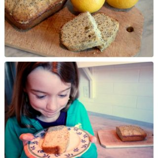 Lemon Poppy Seed Loaf Kids Snack form Kitchen Counter Chronicles at B-Inspired Mama