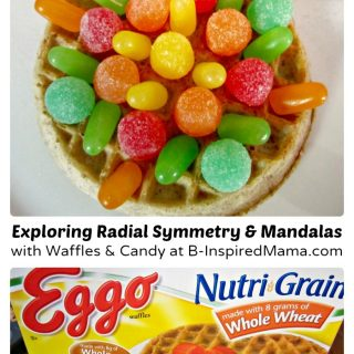 Making an Eggo Waffle Mandala Kids Snack at B-Inspired Mama