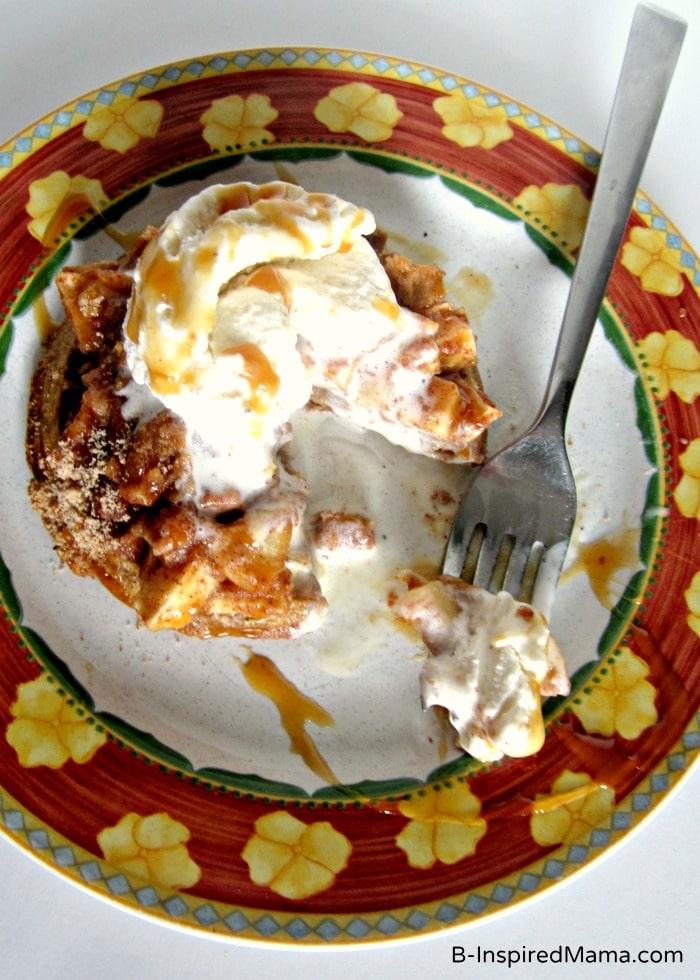 Mini Pumpkin Apple Crisp Waffle Recipe at B-Inspired Mama