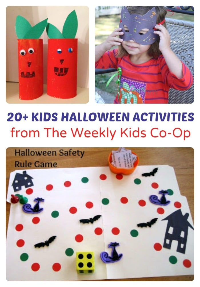 Over 20 Fun Kids Halloween Activities from The Weekly Kids Co-Op at B-Inspired Mama