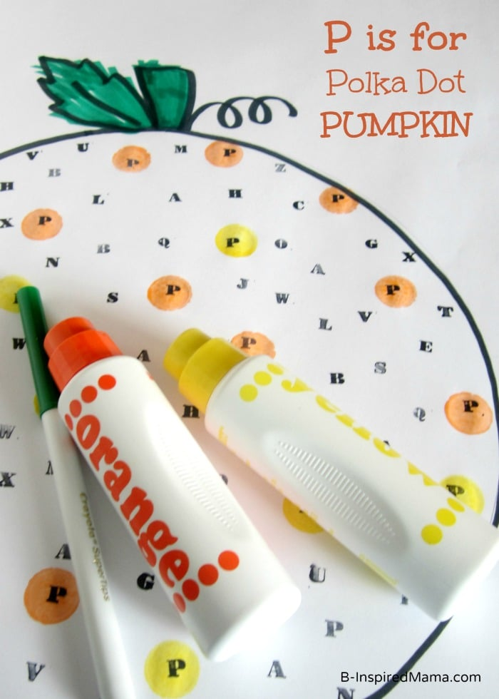 P is for Polka Dot Pumpkin Halloween Activity