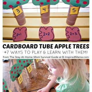 Preschool Learning Games with DIY Apple Trees at B-Inspired Mama