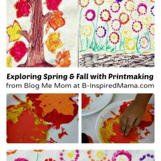 Season Craft - Exploring Spring and Fall with Printmaking from Blog Me Mom at B-Inspired Mama