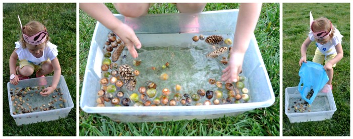 Signs of Autumn Sensory Bin Play at B-Inspired Mama