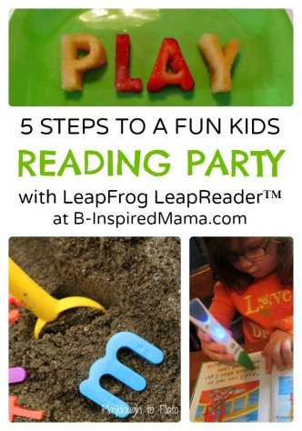5 Steps to a Reading Themed Kids Party at B-Inspired Mama