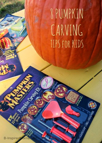 8 Pumpkin Carving Tips for Kids from Pumpkin Masters and B-Inspired Mama