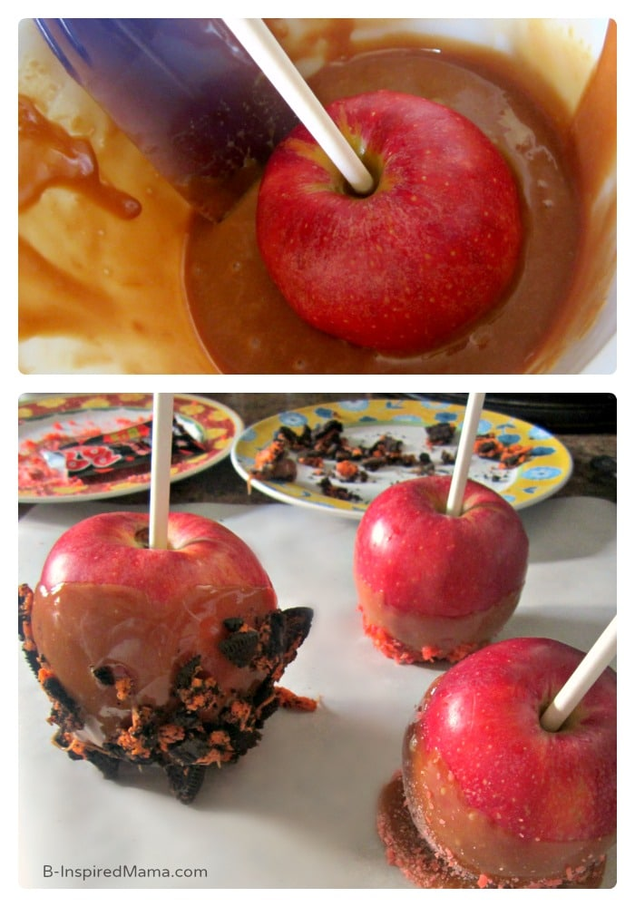 A Mama Party to Make a Super Easy Caramel Apple Recipe - Sponsored by Werther's Original at B-Inspired Mama