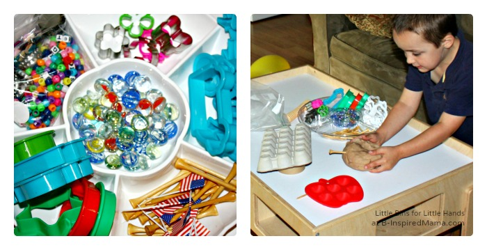 A Play Dough Station + More Affordable Kids Party Activities at B-Inspired Mama