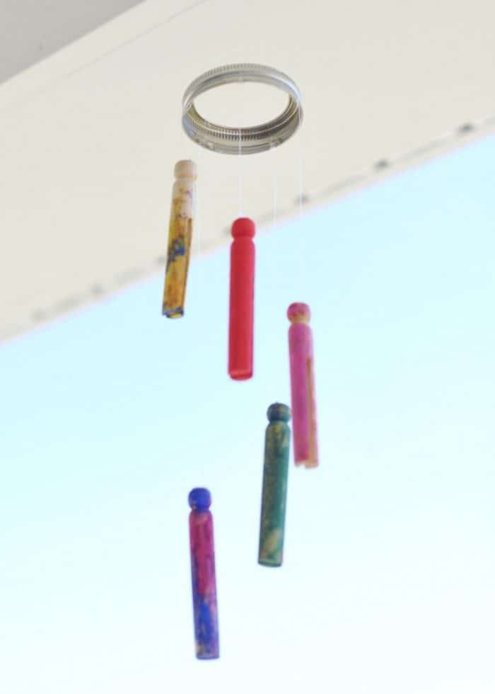 An Easy Wind Chime Kids Craft for Exploring the Sense of Hearing at B-Inspired Mama