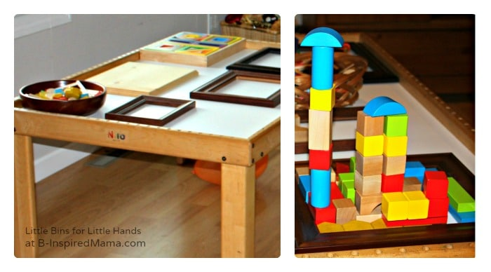 Blocks and Frame Table + More Kids Party Activities at B-Inspired Mama