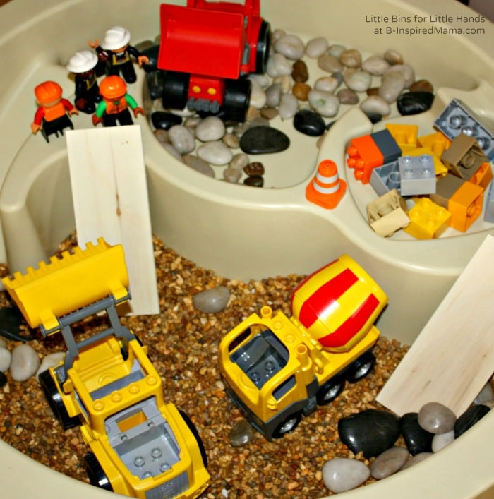 Construction Small World Play + More Affordable Kids Party Activities at B-Inspired Mama