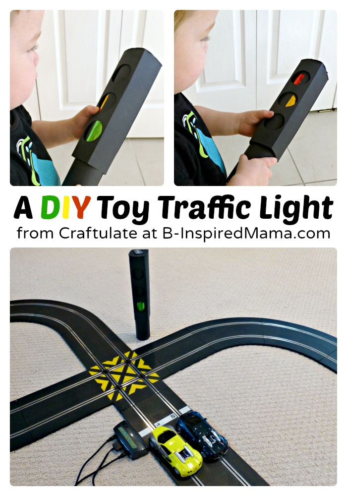 DIY Toy Traffic Light - Craftulate at B-Inspired Mama