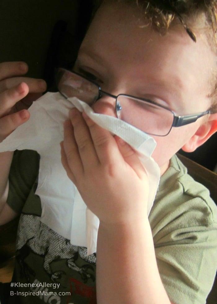 Getting Kids to Use Kleenex During Allergy Season - Sponsored by #KleenexAllergy at B-Inspired Mama