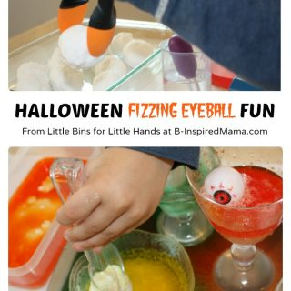 Halloween Fizzing Eyeball Science Fun at B-Inspired Mama