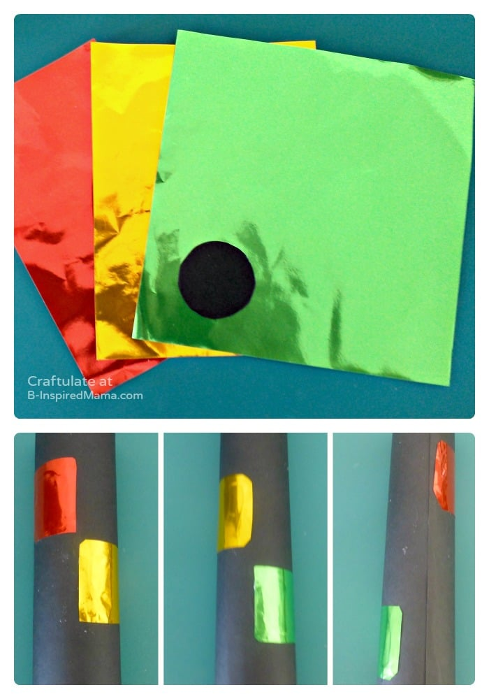 How to Make a DIY Toy Traffic Light - Craftulate at B-Inspired Mama