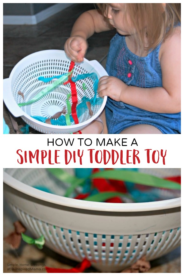 How to make a super simple DIY toy for toddlers