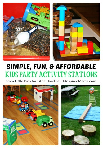 Ideas for Affordable Kids Party Activities at B-Inspired Mama