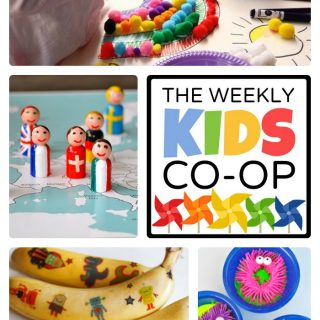 Ideas for Creative Kids from The Weekly Kids Co-Op Link Party at B-Inspired Mama
