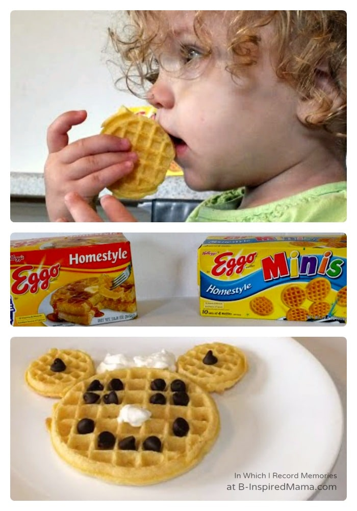 Minnie Mouse Waffles for a Fun Kids Breakfast at B-Inspired Mama