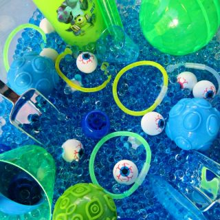 Some Monster Eyes Sensory Play that's Fun and Not Spooky