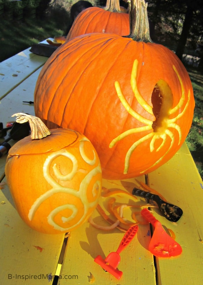 Pumpkin Carving Tips for Kids - Sponsored by Pumpkin Masters at B-Inspired Mama