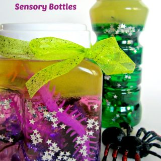 Sensory Bottles of Spiders and Insects for Kids
