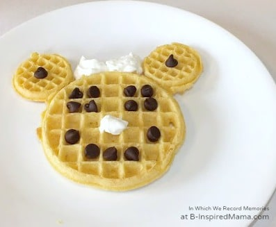 Simple Minnie Mouse Waffles for a Quick Kids Breakfast at B-Inspired Mama