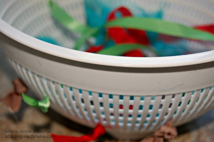 Two Everyday Items for a Simple DIY Toy for Toddlers at B-Inspired Mama