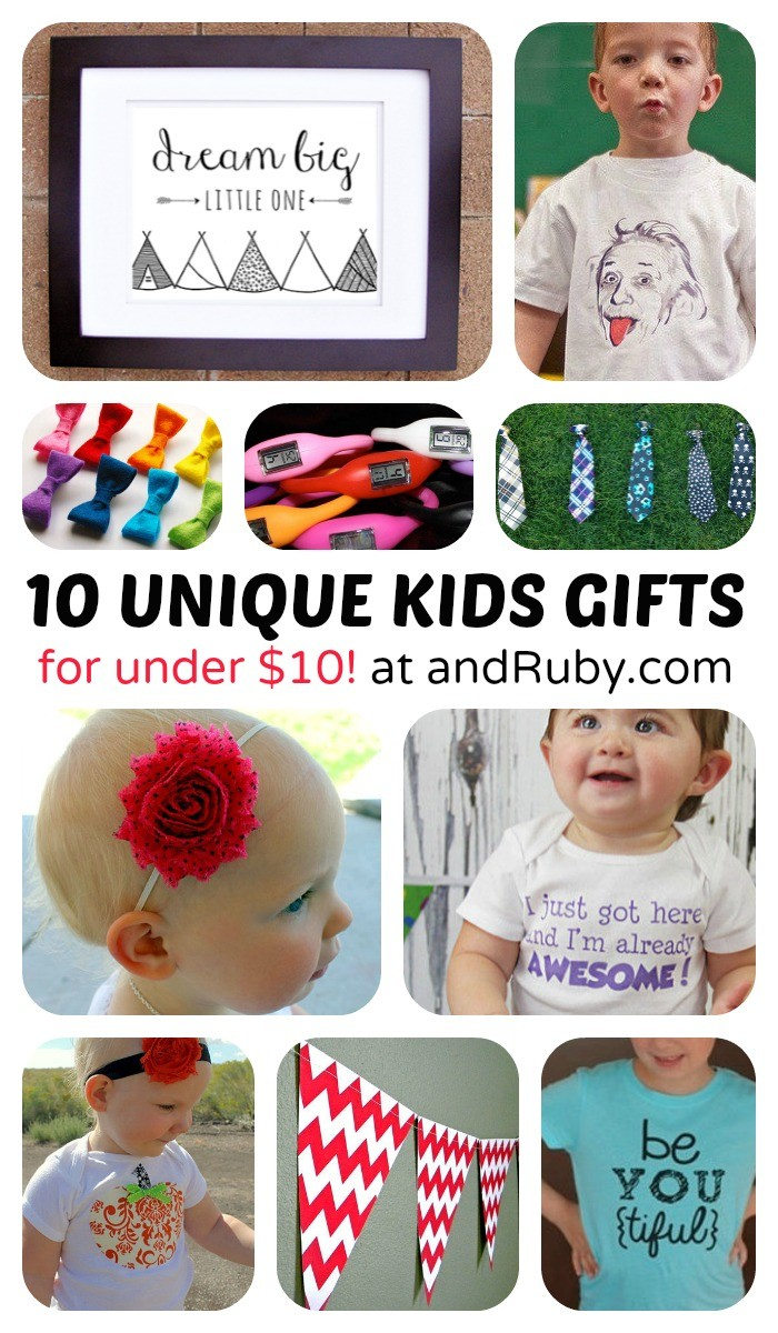 Unique Kids Stuff for Under $10 - sponsored by andRuby at B-Inspired Mama