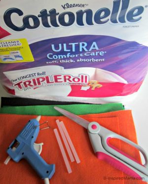 Using Cottonelle Toilet Paper to Craft a Halloween Game - Sponsored by #CottonelleTarget at B-Inspired Mama