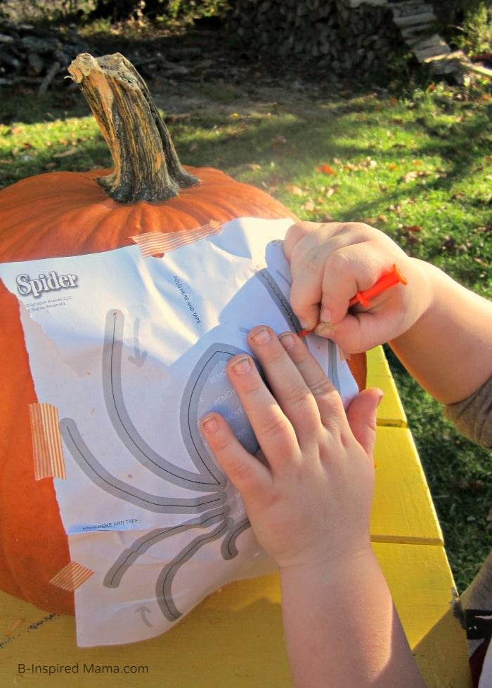 Using Pumpkin Masters Patterns + More Pumpkin Carving Tips for Kids at B-Inspired Mama