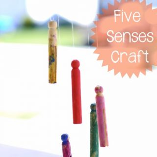 Wind Chime Kids Craft to Explore the Five Senses at B-Inspired Mama