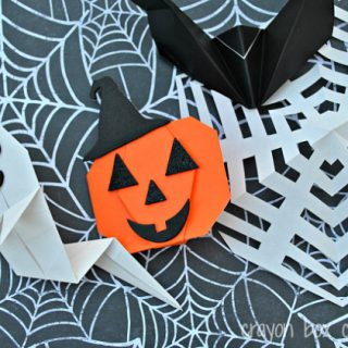 Origami Halloween Crafts for Kids