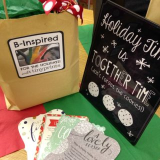 A Creative Holiday Planning Moms Night Out with Tiny Prints at B-Inspired Mama