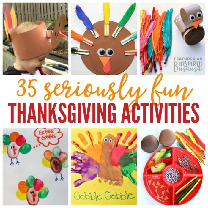 35 Seriously Fun Thanksgiving Activities for Kids - at B-Inspired Mama