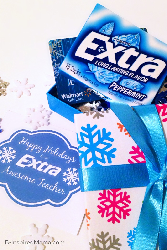 A Holiday Teacher Gift with a Free Printable Sponsored #Shop with Extra Gum at B-Inspired Mama