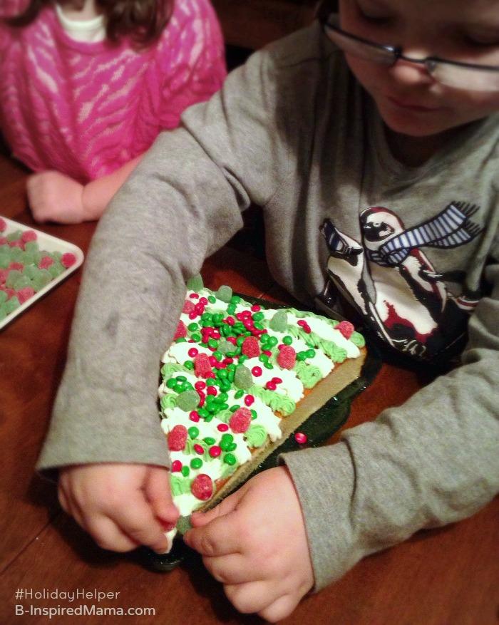 A Semi-Homemade Christmas Tree Christmas Cake - Kid Made