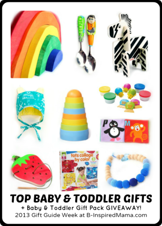 Baby and Toddler Gift Guide + Giveaway at B-Inspired Mama