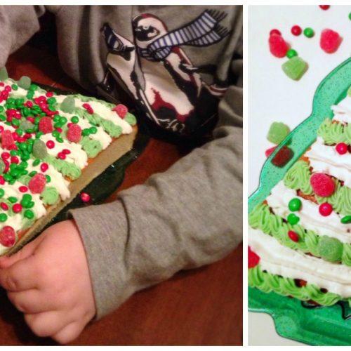 semi homemade christmas tree shaped christmas cake recipe - Christmas Cake Decorations Amazon