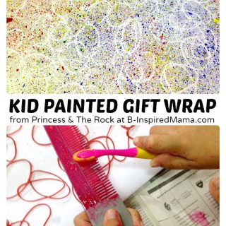 Creative Gift Wrapping Paper Painted by the Kids - B-Inspired Mama