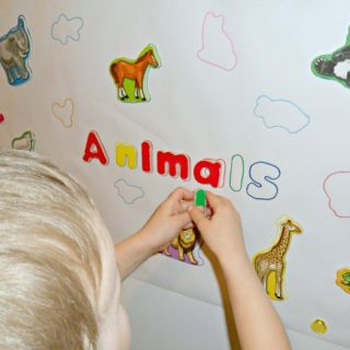 Early Learning with a Homemade Animal Puzzle at B-Inspired Mama