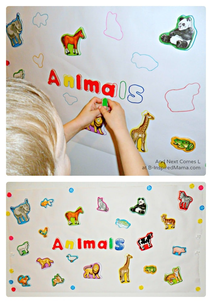 Early Learning with a Simple Magnet Puzzle at B-Inspired Mama