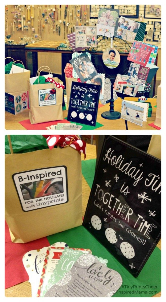 Fun Gifts from Tiny Prints at Our Holiday Moms Night Out - B-Inspired Mama