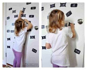 Fun Sight Word Learning Activities Using Printable Magnets at B-Inspired Mama