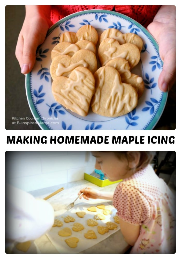 Homemade Maple Icing for Fall Maple Cookies at B-Inspired Mama