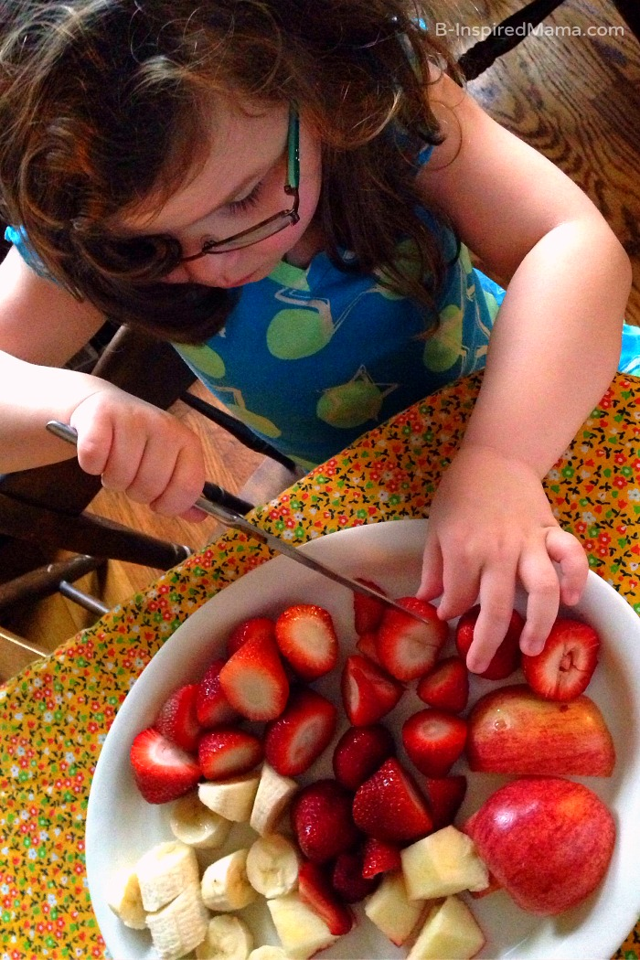 Kids Fruit Cutting Practice - Sponsored by FruitsMax at B-Inspired Mama