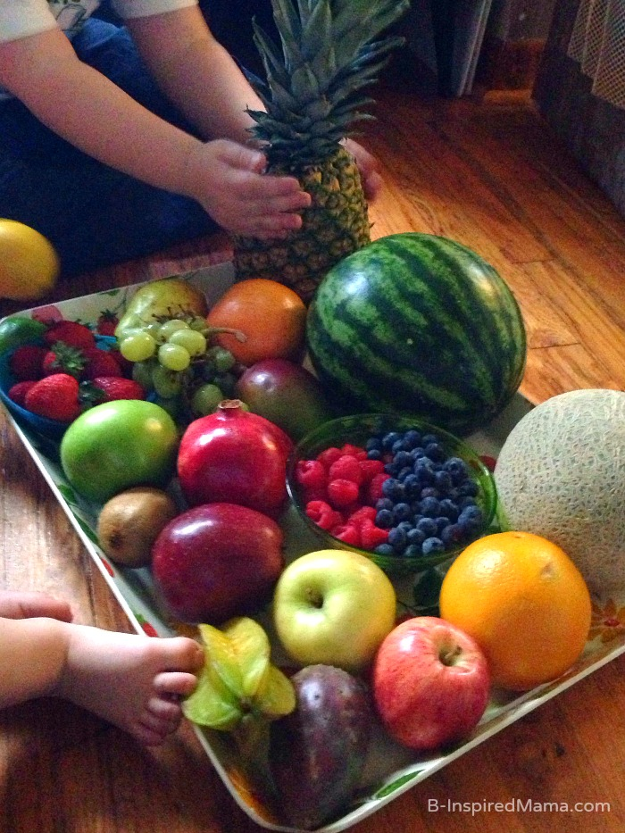 Kids Fruit Exploration - Sponsored by FruitsMax at B-Inspired Mama