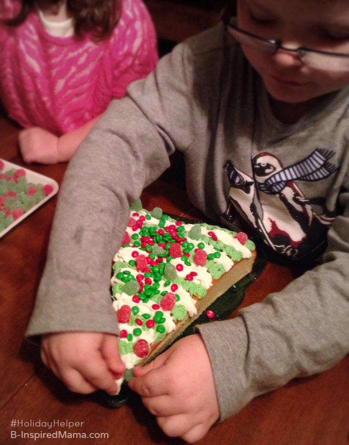 Kids Making a Simple Christmas Cake Recipe - Sponsored #HolidayHelper - B-Inspired Mama
